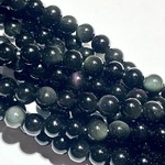 Obsidian (Rainbow) Sheen 6mm Round