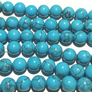 HOWLITE Dyed Turquoise Blue 8mm Round