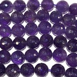 Amethyst Grade A 10mm Faceted 1/2 Strand