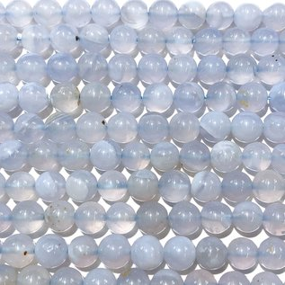 Blue Chalcedony Natural 6mm Round