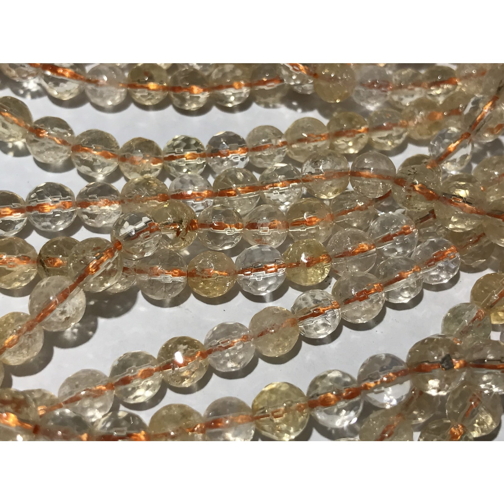 CITRINE Grade AA Natural 6mm Faceted