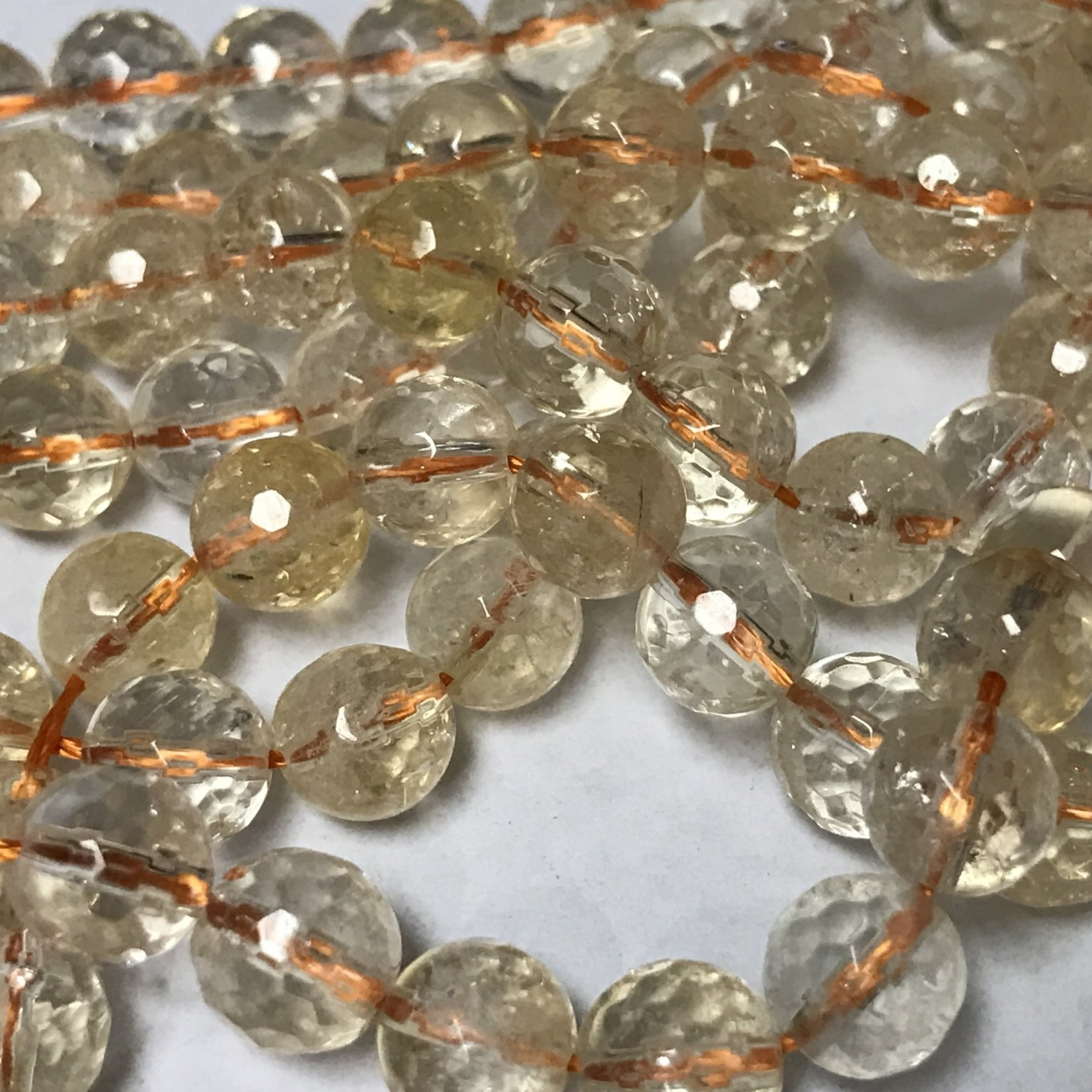 CITRINE Grade AA Natural 8mm Faceted
