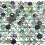 RAINBOW FLUORITE Natural 10mm Faceted