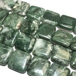 AFRICAN JADE Natural 25mm Square Beads