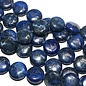 Lapis Lazuli Smooth Coin Beads 14mm