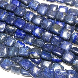 Lapis Lazuli Smooth Square Beads 12mm Grade A