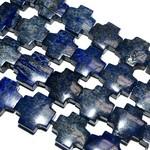 Lapis Lazuli Even Cross Beads 18mm Natural Dyed