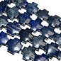 Lapis Lazuli Even Cross Beads 18mm Natural Dyed