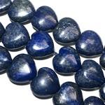 Lapis Lazuli Smooth Heart Beads 16mm Natural