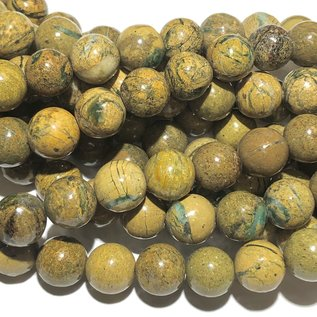 Natural African Jasper with Green Opal 10mm