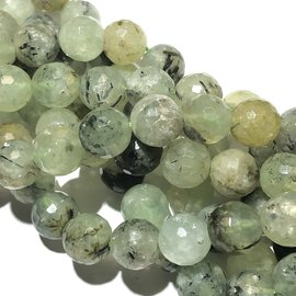 PREHNITE Natural 10mm Faceted