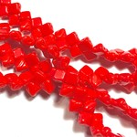 2-Hole SILKY Bead Red 40pcs 5mm