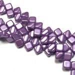 2-Hole SILKY Bead Pastel Lilac 40pcs 6.5mm