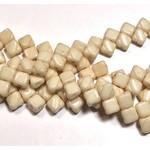 2-Hole SILKY Bead Chalk Orange Luster 40pcs 6.5mm