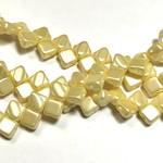 2-Hole SILKY Bead Pastel Cream 40pcs 6.5mm