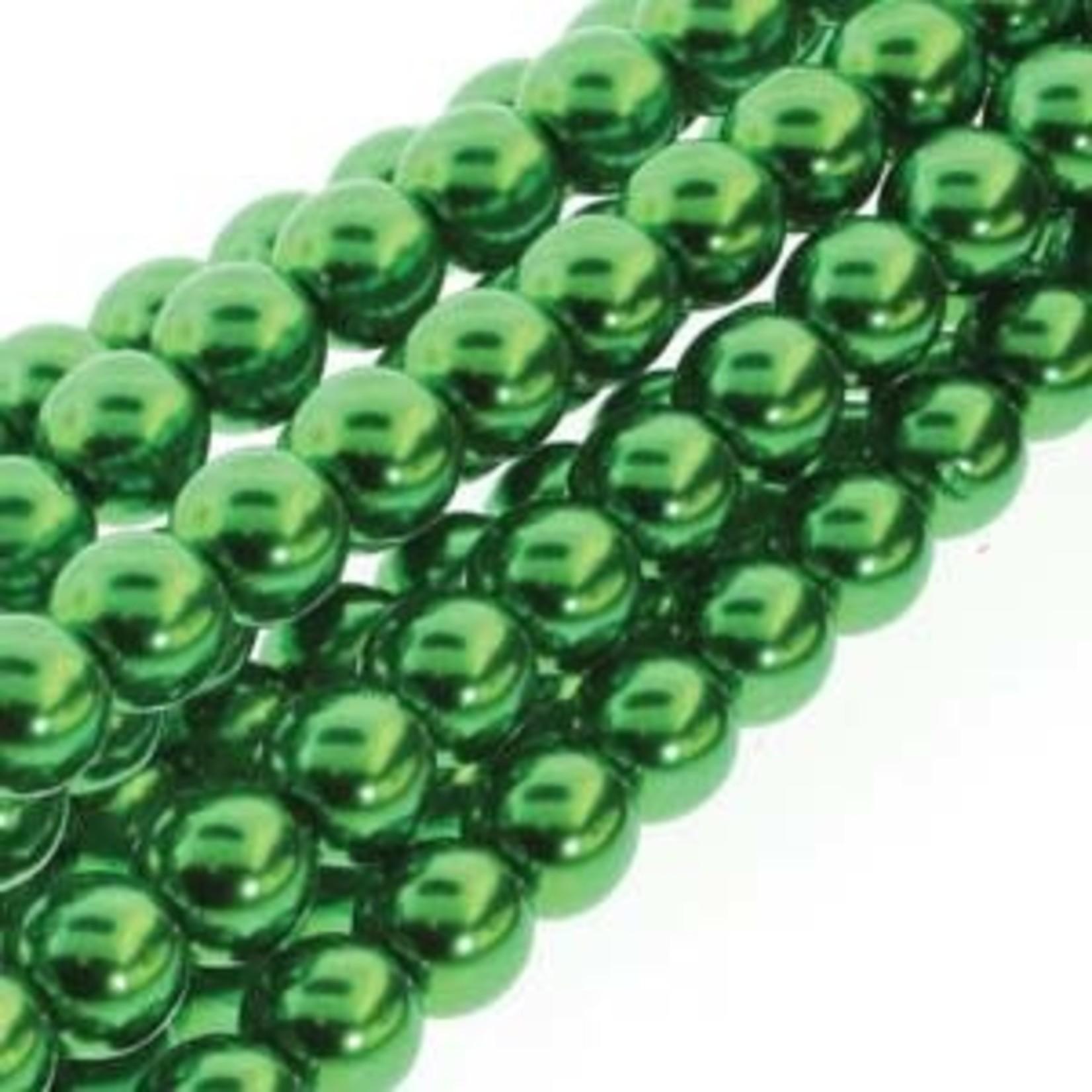 PRECIOSA Crystal Pearls 8mm Xmas Green 75/Str