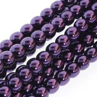 PRECIOSA Crystal Pearls 8mm Purple 75/Str