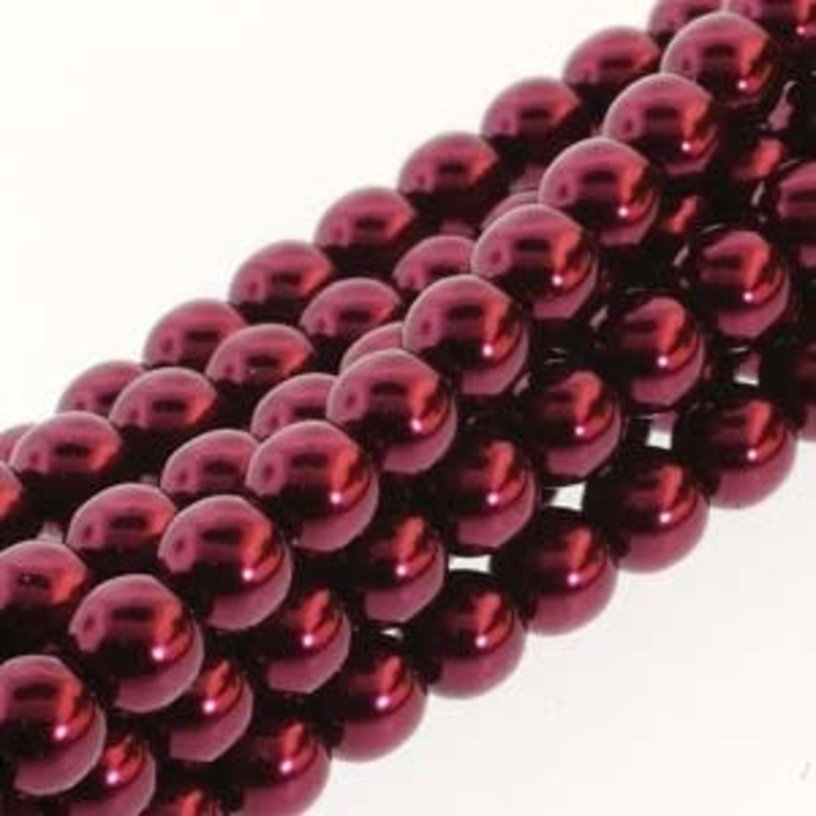 PRECIOSA Crystal Pearls 8mm Burgundy 75/Str