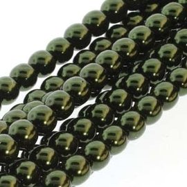 PRECIOSA Crystal Pearls 8mm Hunter Green 75/Str