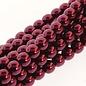 PRECIOSA Crystal Pearls 6mm Burgundy 75/Str