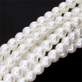 PRECIOSA Crystal Pearls 6mm White 75/Strand