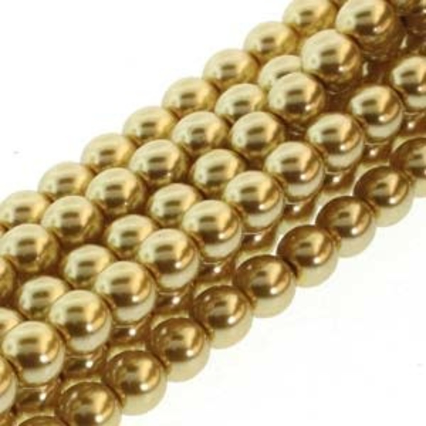 PRECIOSA Crystal Pearls 6mm Gold 75/Str