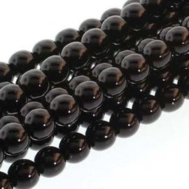 PRECIOSA Crystal Pearls 6mm Black 75/Str