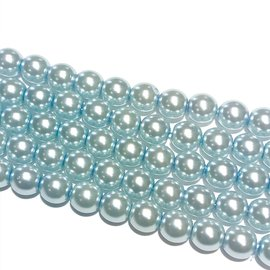 PRECIOSA Crystal Pearls 6mm Light Sapphire 75/Str