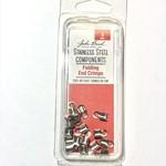 Stainless Steel Folding End Crimp 9mm 15pcs