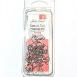 Stainless Steel Fish Hook Earring 14mm 20pcs