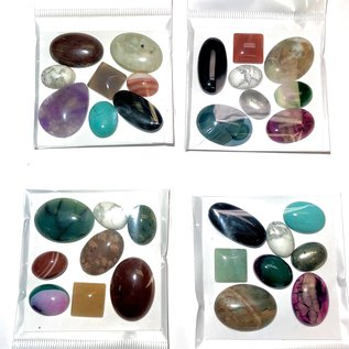 Assorted Gemstone Cabochons 8pcs