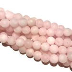 ROSE QUARTZ Frosted 8mm Round