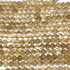 QUARTZ Golden Rutilated Natural Gd A 6mm Round