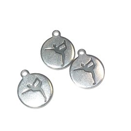 Stainless Steel Yoga Pose Charms 3pcs/Pkg