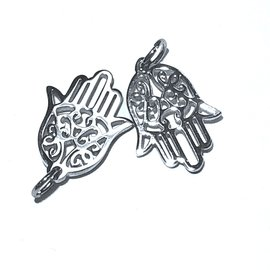 Stainless Steel Hamsa Hand Charms 2pcs/Pkg
