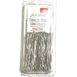 Stainless Steel Head Pins 40mm 100pcs