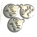 Stainless Steel Only You Charm 3pcs/Pkg