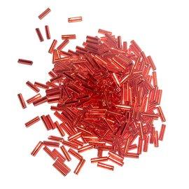 MIYUKI Bugle #2 Silver Lined Red 25g