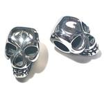 Stainless Steel 12.5mm Skull Bead 2pcs/Pkg