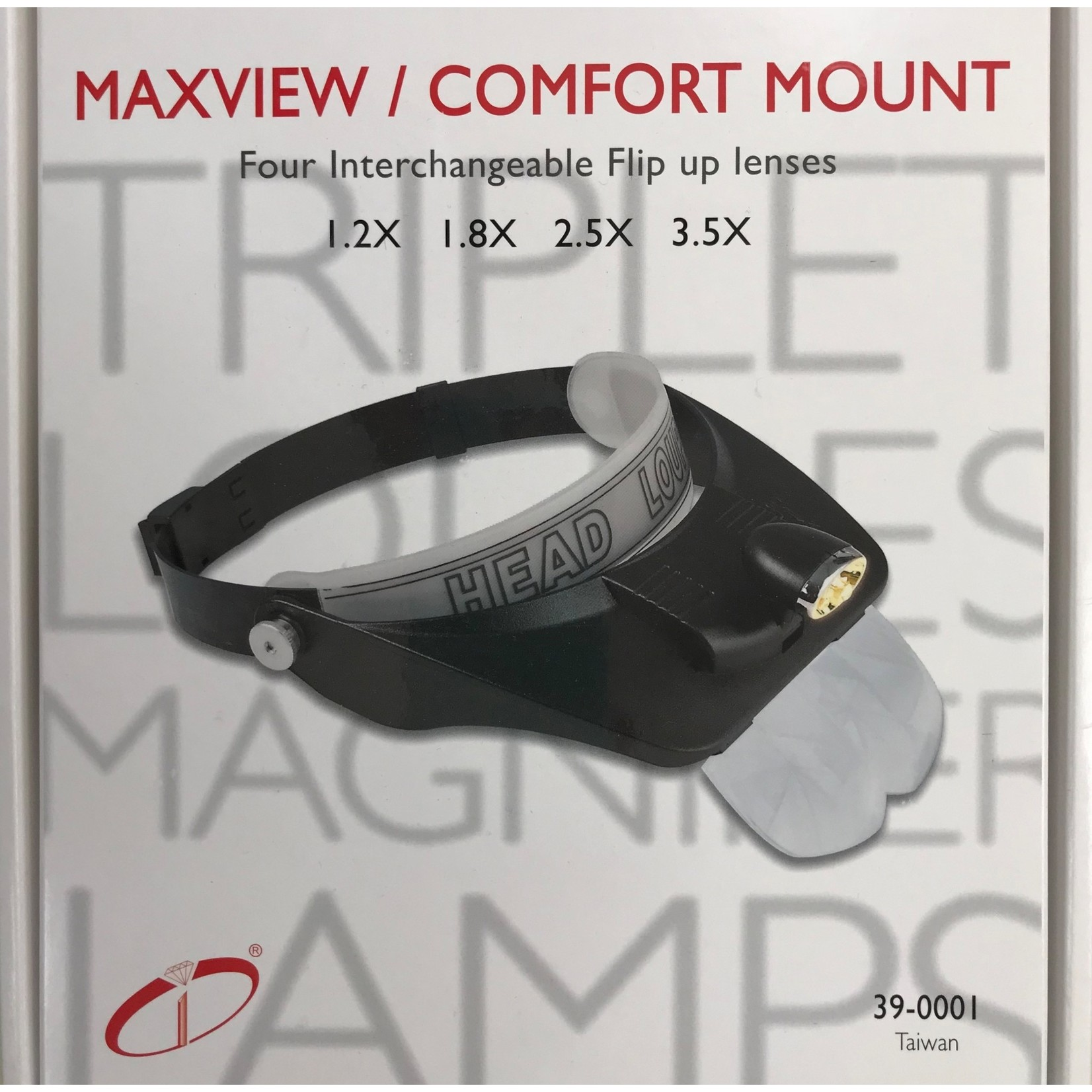 Head Loupe MAGNIFIER w/4 Lenses and Light