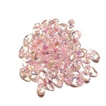 MIYUKI Long Magatama Pink Lined Crystal AB 10g
