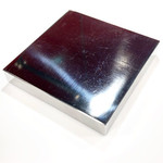 "Pro Quality Polished Steel Bench Block 4"" x 4"" x 5/8"""