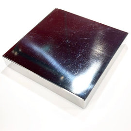 "Pro Quality Polished Steel Bench Block 4"" x 4"" x 5/8"""