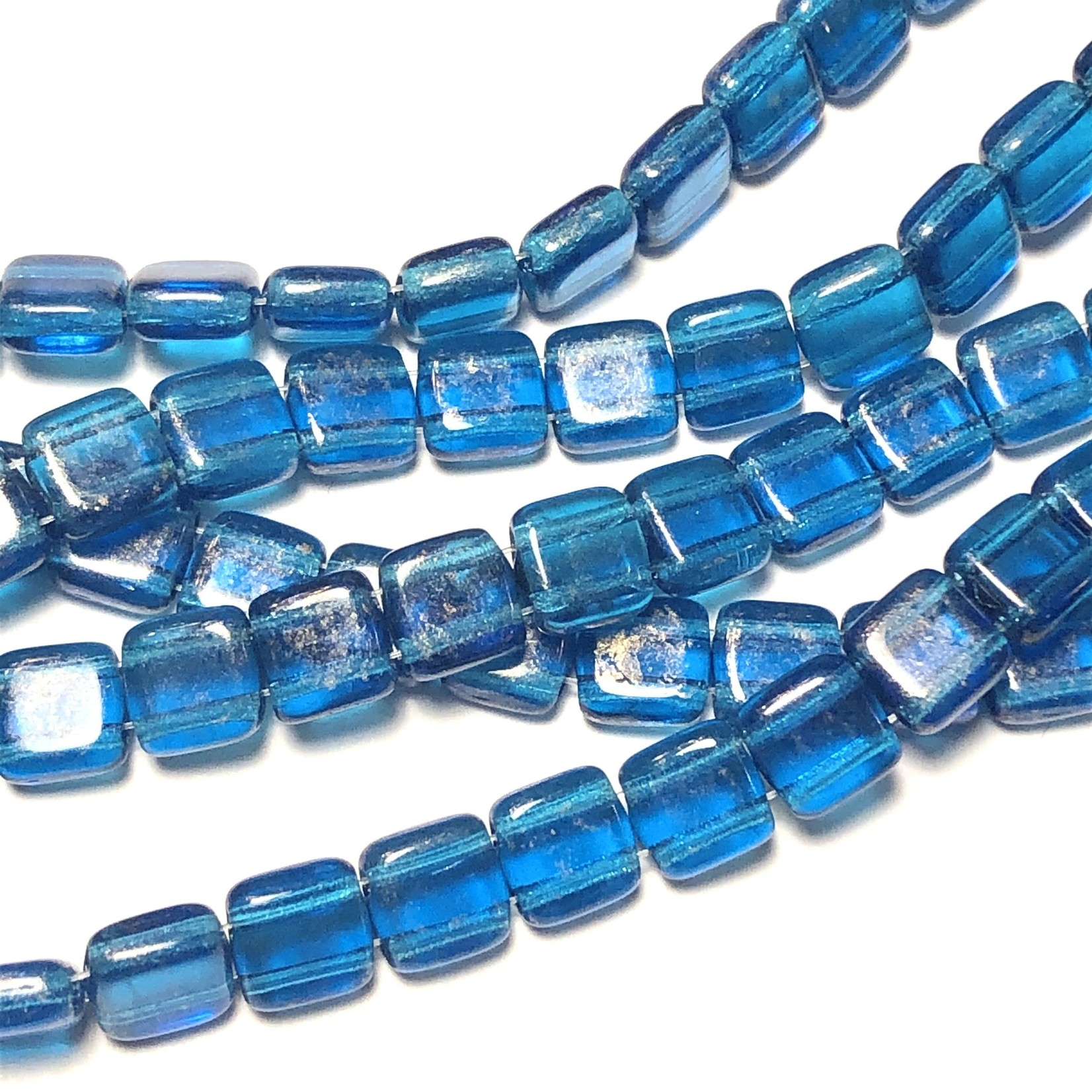 CzechMates TILE Gold Marbled Capri Blue
