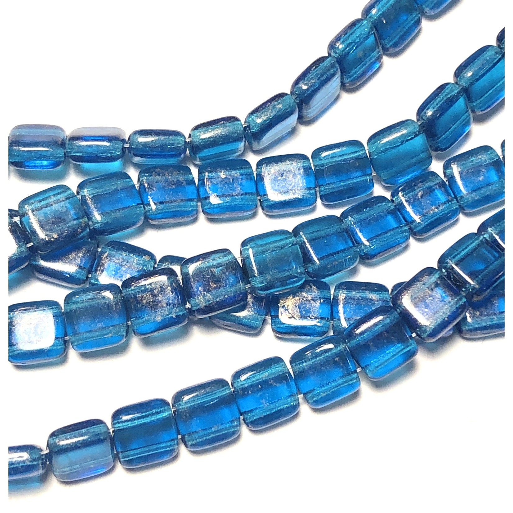 CzechMates CzechMates TILE Gold Marbled Capri Blue
