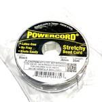 POWERCORD Strech Cord Black .4mm @ 25m/pkg