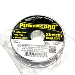 POWERCORD Strech Cord Black .4mm @ 25m/pkg