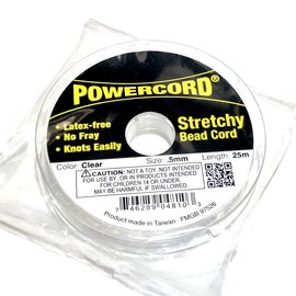 POWERCORD Strech Cord Clear .5mm @ 25m/pkg