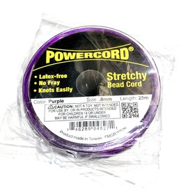 POWERCORD Stretch Cord Purple .8mm @ 75ft/pkg