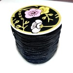 Nylon Bead/Knot CORD 0.8mm 120m/roll BLACK
